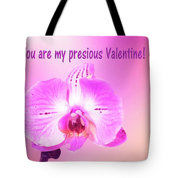 Tote Bag featuring the photograph Single Orchid Valentine by Linda Phelps