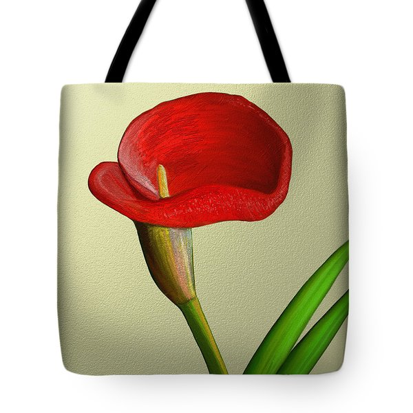 Tote Bag featuring the painting Single Pose by Rand Herron