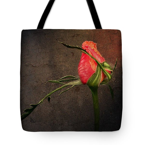Single Rose Tote Bag by Ann Lauwers