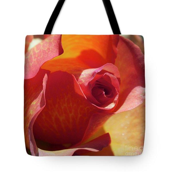 Single Rose Tote Bag by Gwyn Newcombe