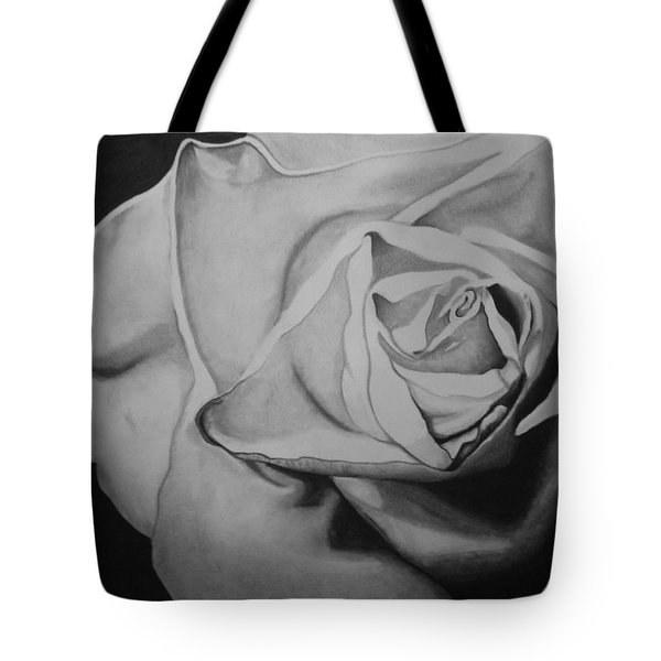Single Rose Tote Bag by Jason Dunning