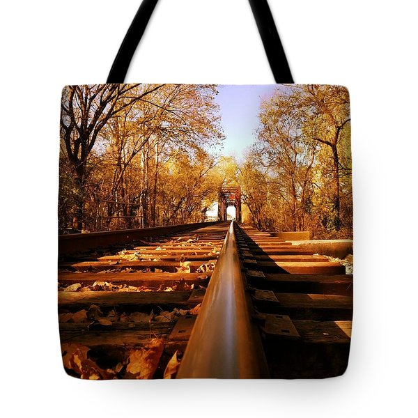 Single Track Mind  Tote Bag