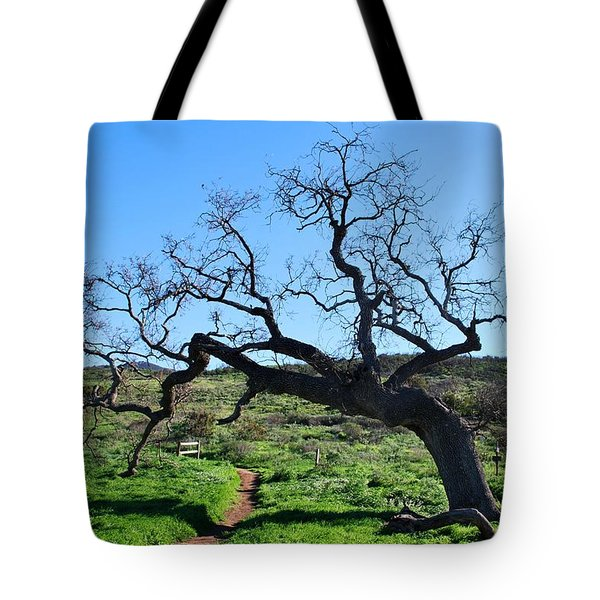 Single Tree Over Narrow Path Tote Bag