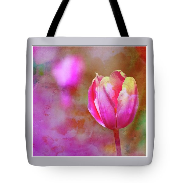 Single Tulip Tote Bag
