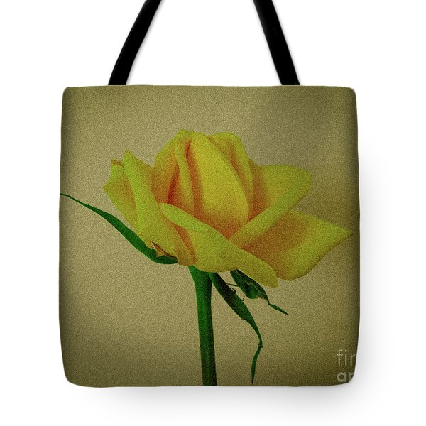 Single Yellow Rose Tote Bag