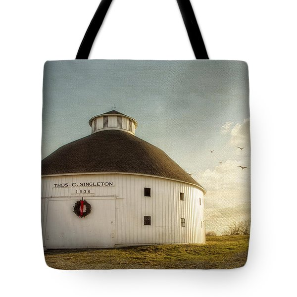 Singleton Round Barn Tote Bag