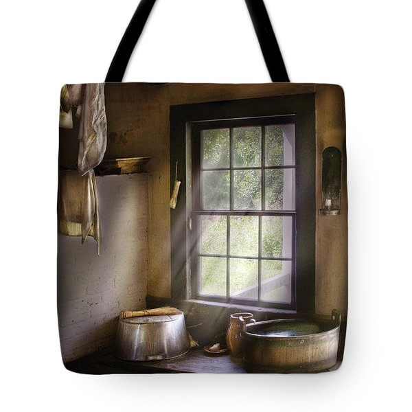 Sink - Please Wash Your Hands Tote Bag by Mike Savad