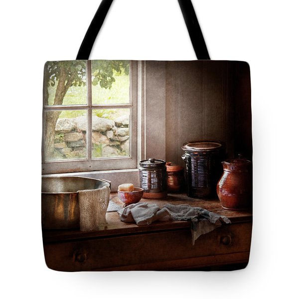 Sink - The Morning Chores Tote Bag by Mike Savad