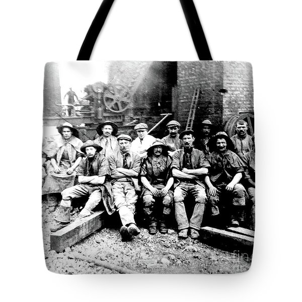 Sinkers,rossington Colliery,1915 Tote Bag