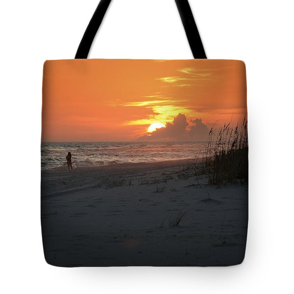 Sinking Into The Horizon Tote Bag