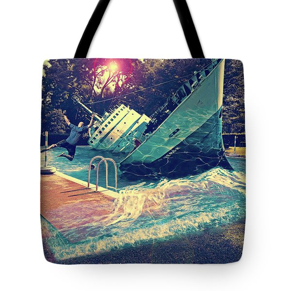 Sinking Into The Pool Tote Bag