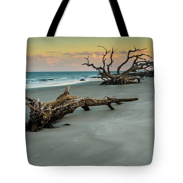 Tote Bag featuring the photograph Sunset On Jekyll Island by Louis Dallara