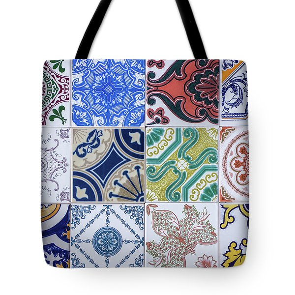 Tote Bag featuring the photograph Sintra Tiles by Carlos Caetano