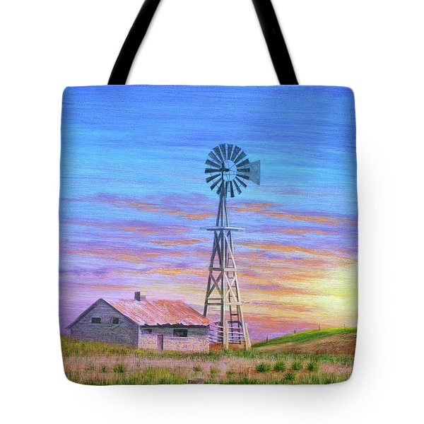 Sioux County Sunrise Tote Bag by J W Kelly