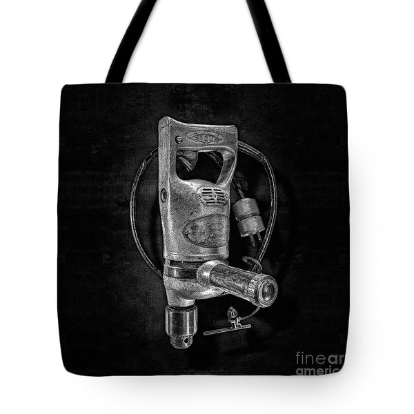 Sioux Drill Motor 1/2 Inch Bw Tote Bag