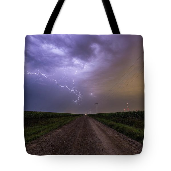 Tote Bag featuring the photograph Sioux Falls Lightning by Aaron J Groen