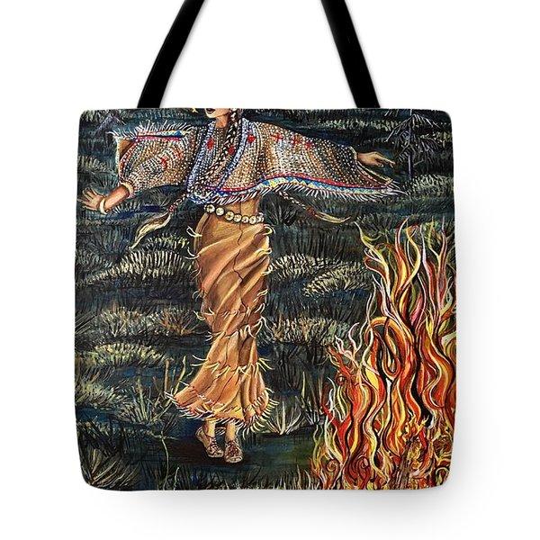 Sioux Woman Dancing Tote Bag