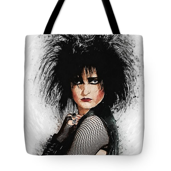 Tote Bag featuring the digital art Siouxsie Sioux by Taylan Apukovska