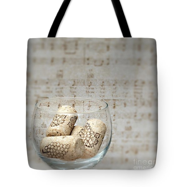Sipping Wine While Listening To Music Tote Bag