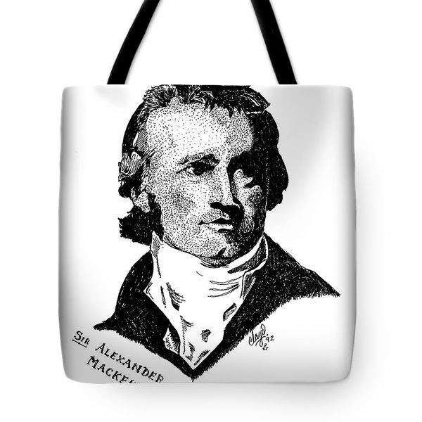 Sir Alexander Mackenzie Tote Bag