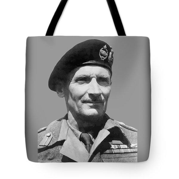Sir Bernard Law Montgomery  Tote Bag by War Is Hell Store