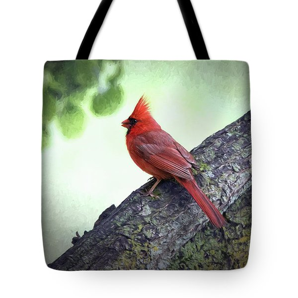Sir Cardinal Tote Bag