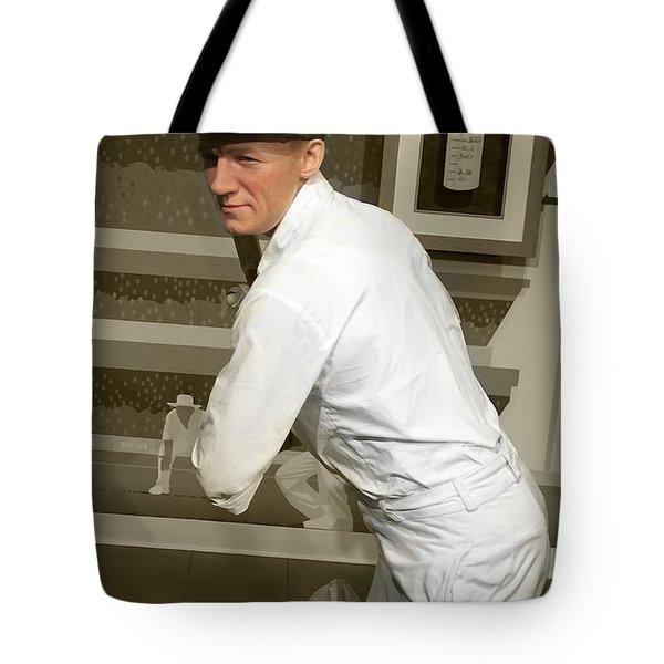 Tote Bag featuring the photograph Sir Donald Bradman by Miroslava Jurcik