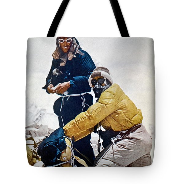 Tote Bag featuring the painting Sir Edmund Hillary by Granger