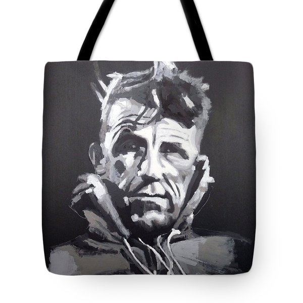 Tote Bag featuring the painting Sir Edmund Hillary by Richard Le Page
