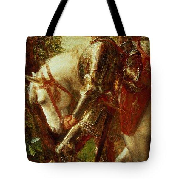 Sir Galahad Tote Bag by George Frederic Watts