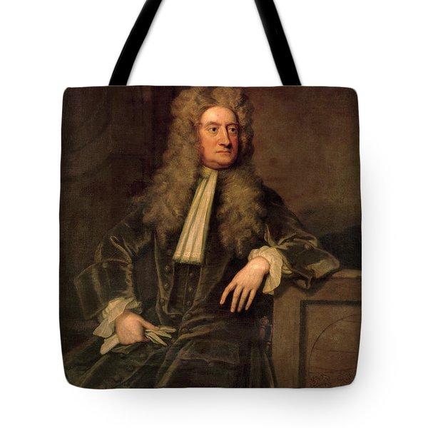Sir Isaac Newton  Tote Bag by Sir Godfrey Kneller