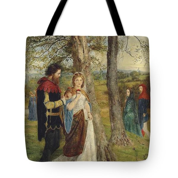 Sir Lancelot And Queen Guinevere Tote Bag