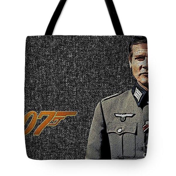 Sir Roger Moore Tote Bag