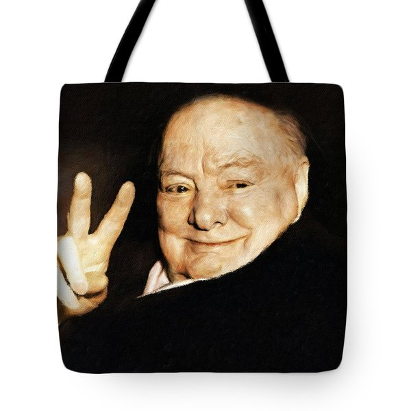 Sir Winston Churchill Victory Tote Bag