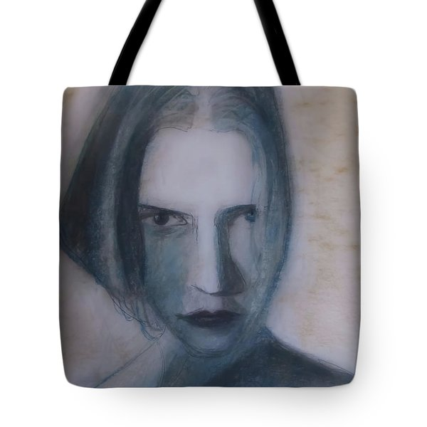 Tote Bag featuring the painting Siren From The Deep by Jarko Aka Lui Grande