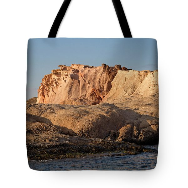 Tote Bag featuring the photograph Siren Island by Rico Besserdich