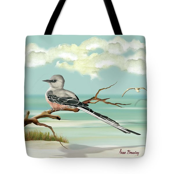 Sissor Tailed Flycatcher Tote Bag by Anne Beverley-Stamps