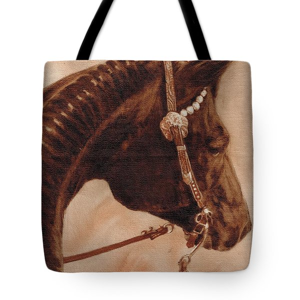 Tote Bag featuring the painting Sissy by Pam Talley