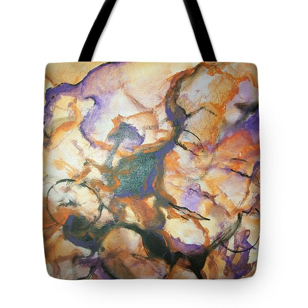 Tote Bag featuring the painting Sistaz by Raymond Doward