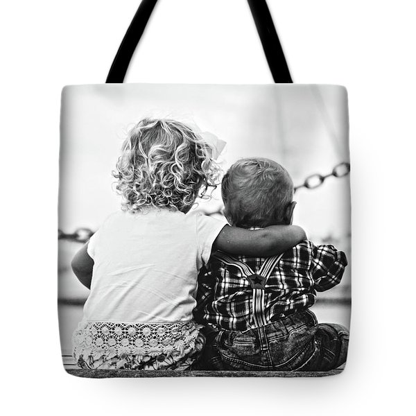 Sister And Brother Tote Bag by Thomas M Pikolin