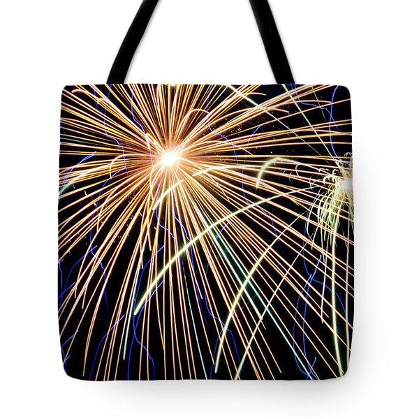 Sister Bay Fireworks Tote Bag