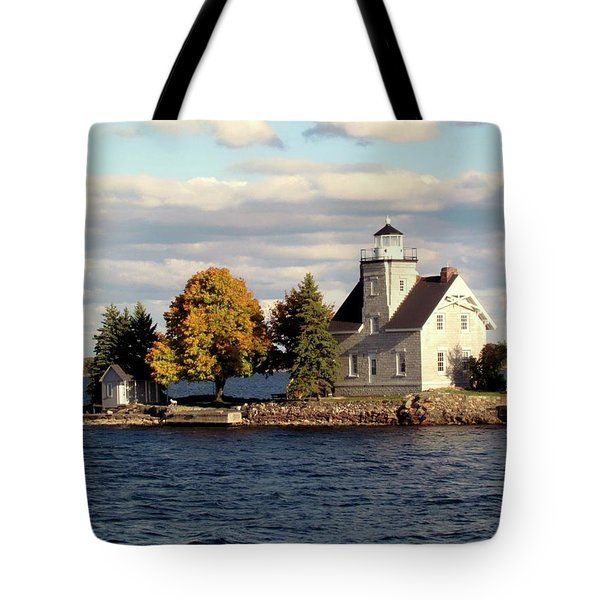 Sister Island Lighthouse Tote Bag