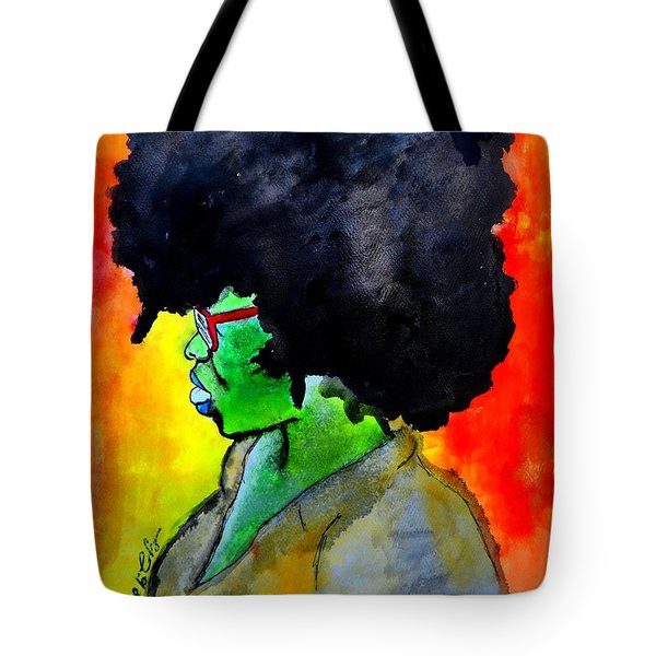 Tote Bag featuring the painting Sister by Tarra Louis-Charles