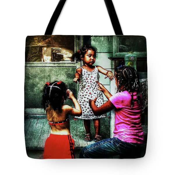 Tote Bag featuring the photograph Sisters by Al Harden