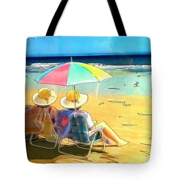 Sisters At The Beach Tote Bag