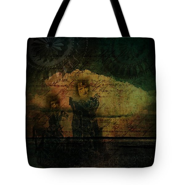 Tote Bag featuring the digital art Sisters At The Shore by Delight Worthyn