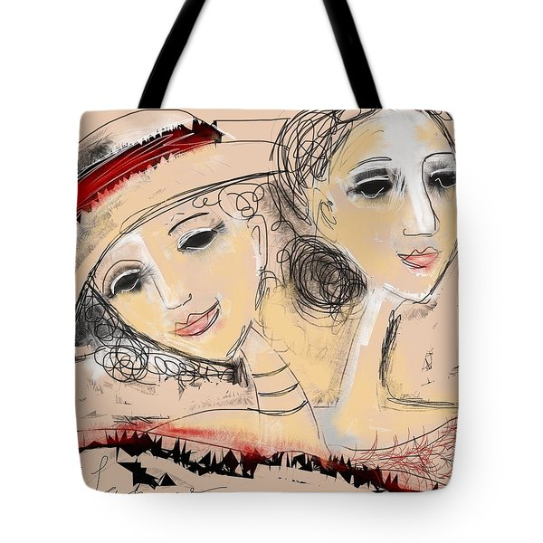 Sisters Tote Bag by Elaine Lanoue