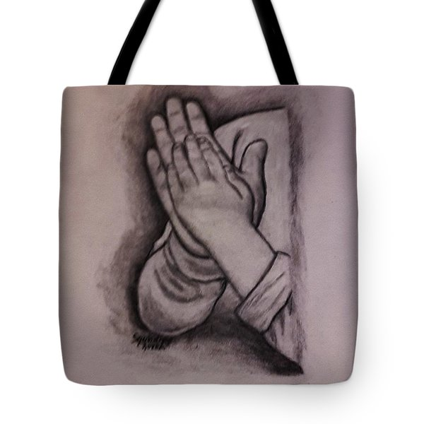 Sisters' Hands Tote Bag by Christy Saunders Church