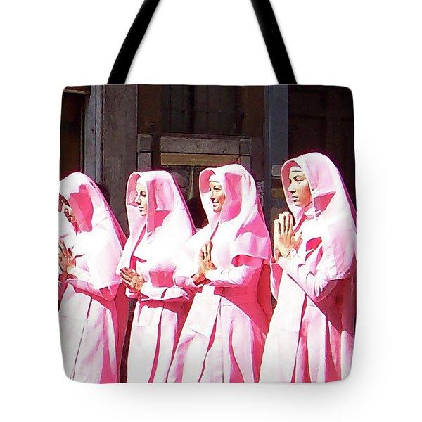 Sisters In Pink Tote Bag