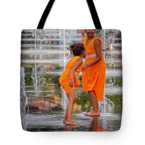Sisters In The Waterpark Tote Bag